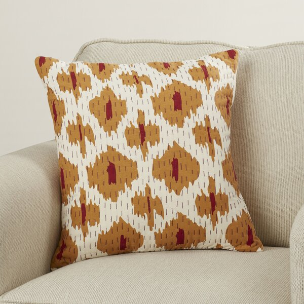Marquez Kantha 100% Cotton Throw Pillow by Wade Logan